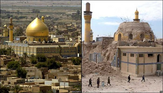 Iraq before U.S. occupation and after democracy - Courtesy of Google